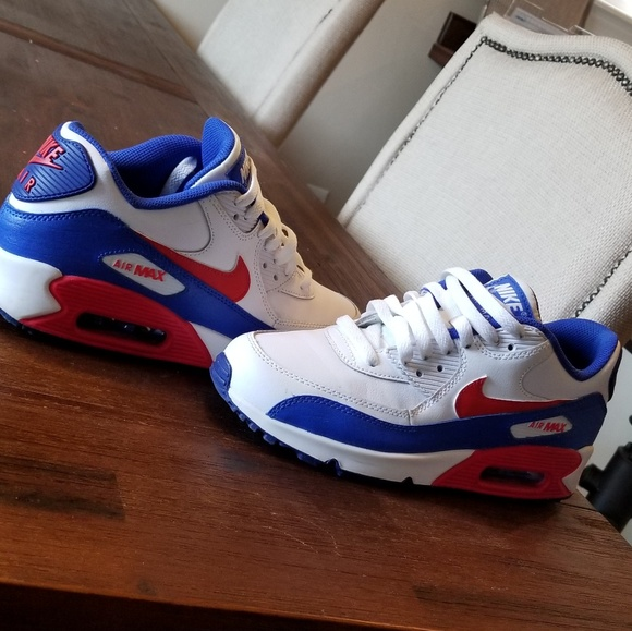 nike red white and blue shoes
